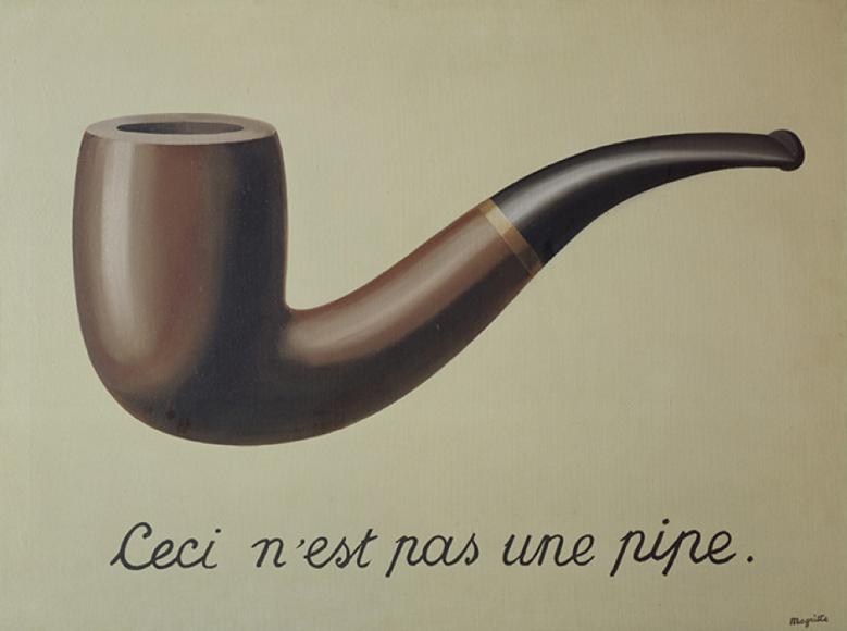 Рене Магритт.«Вероломство образов»,1929 г.