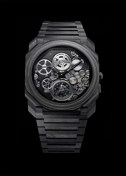 Часы Octo Finissimo Tourbillon Carbon, Bulgari