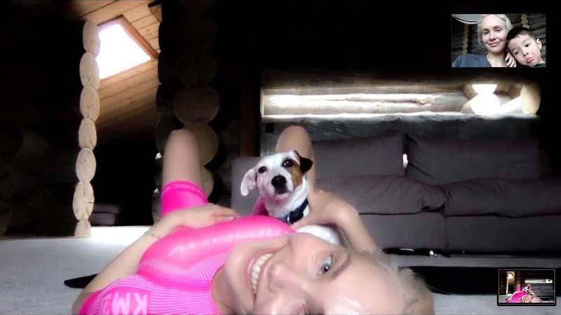 Ольга Карпуть в рекламной кампании КМ20 X MISBHV, снятой по видеосвязи