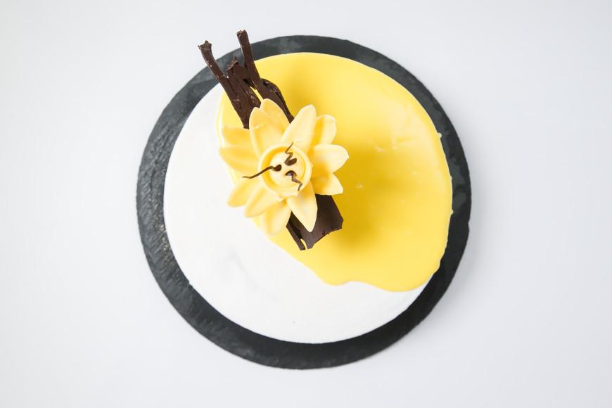Десерт «Торт-мороженое с ежевикой, лемонграссом и лесным орехом» Светланы Тупицыной
