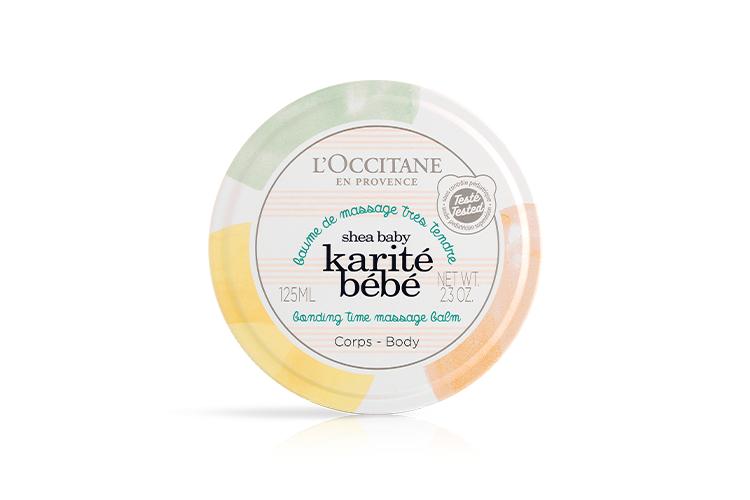 Детское массажное масло Karité Bébé,L'Occitane