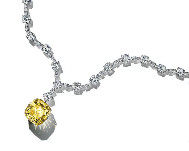 Колье с бриллиантом Yellow Tiffany, Tiffany & Co