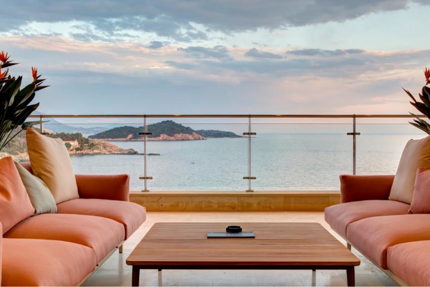 Вид на море из отеля RIXOS PremiumDubrovnik
