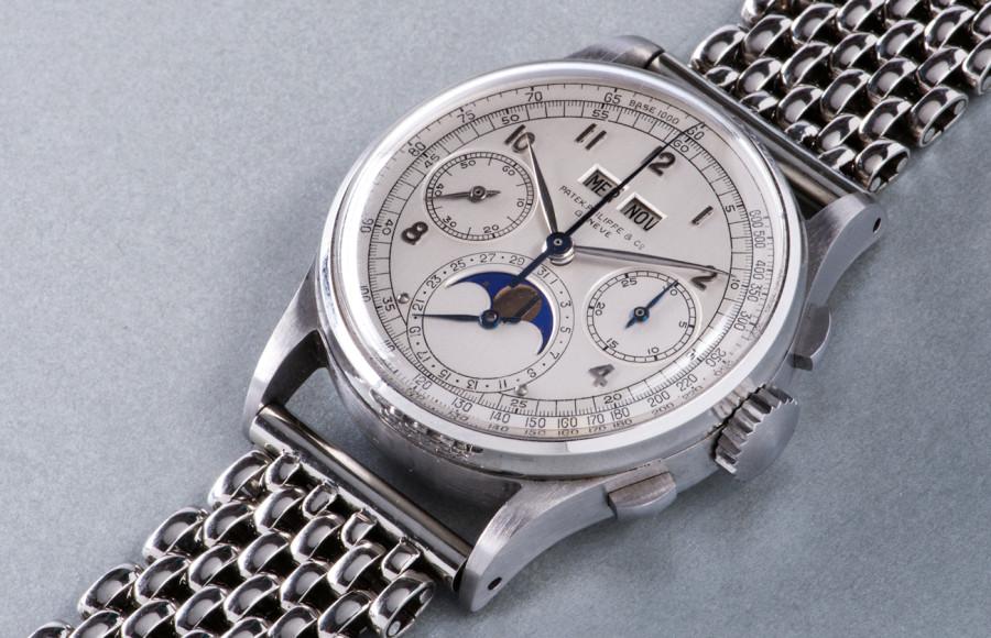 Patek Philippe Ref. 1518, сталь — самые дорогие аукционные наручные часы в мире. Продано за CHF11 002 000 на аукционе Phillips.