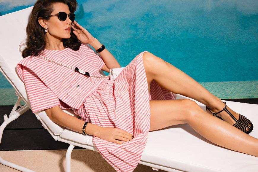 Шарлотта Казираги в рекламной кампании Chanel, весна-лето 2021
