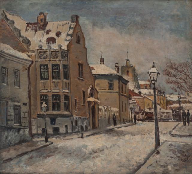 Евгений Окс. «Большой Ржевский переулок», 1934