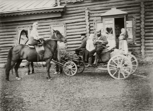 "Б.М.Кустодиев. ""Борис Константинович едет в Питер"", 1903"