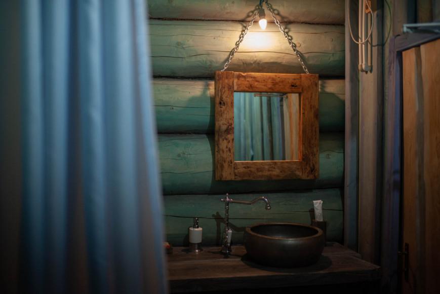 Ванная комната в Синем домике