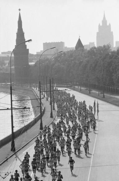 Валерий Зуфаров, Александр Яковлев. Московский Международный марафон Мира,1986