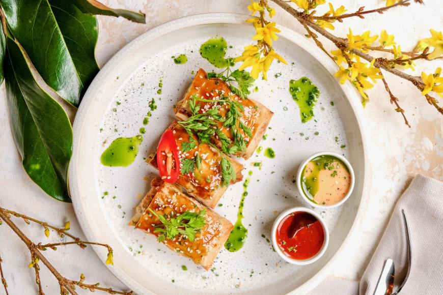 Хрустящие пирожки с овощами и тофу