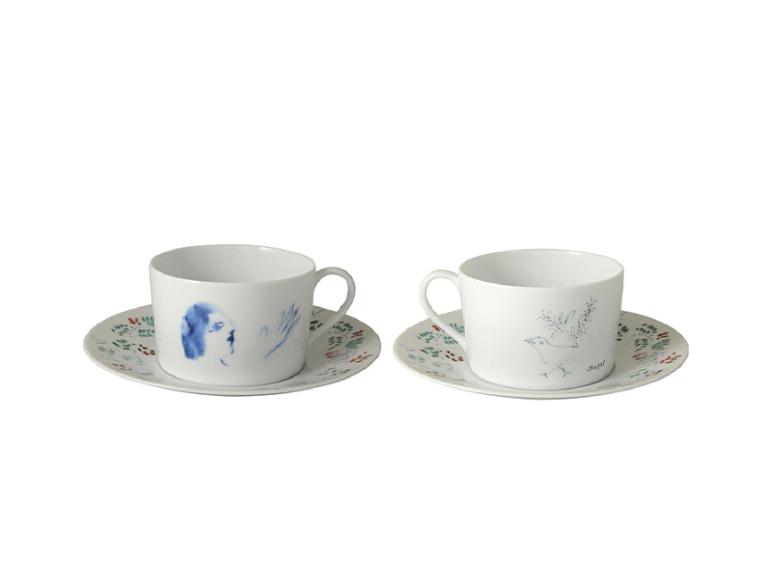 Набор из двух чашек с блюдцами Marc Chagall, Bernardaud, 32 950 руб. (ЦУМ)