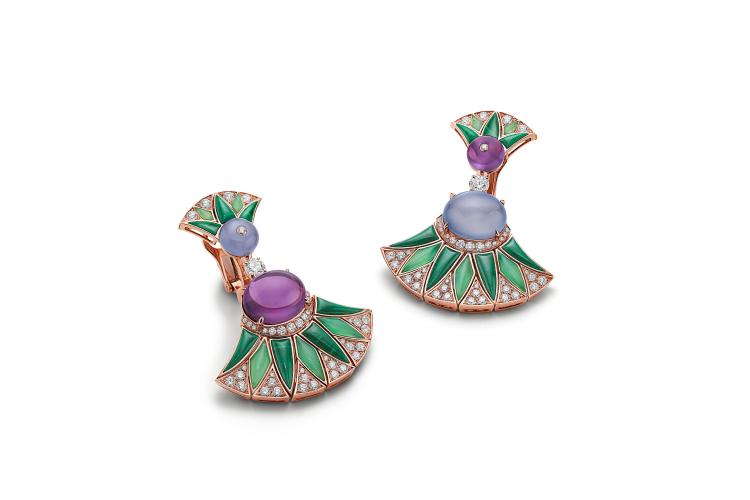 Серьги High Jewelry Diva's Dream, аметист 9,01 карата, халцедон 8,57 карата