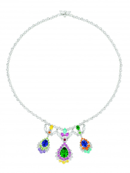 Cher Dior Fascinante Emerald necklace Front