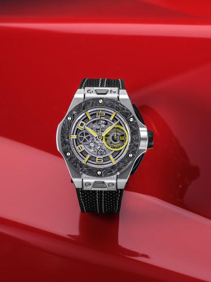 Часы Big Bang Scuderia Ferrari 90th Anniversary с платиновым корпусом