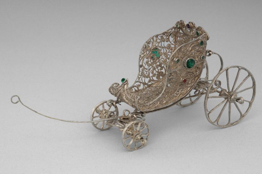 Коляска игрушечная. Северная Европа, конец XVIII— начало XIXвв.