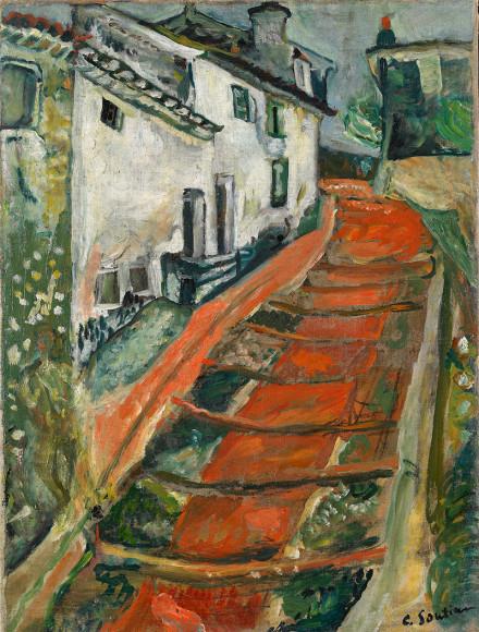 Хаим Сутин. «Красная лестница в Кань», 1918