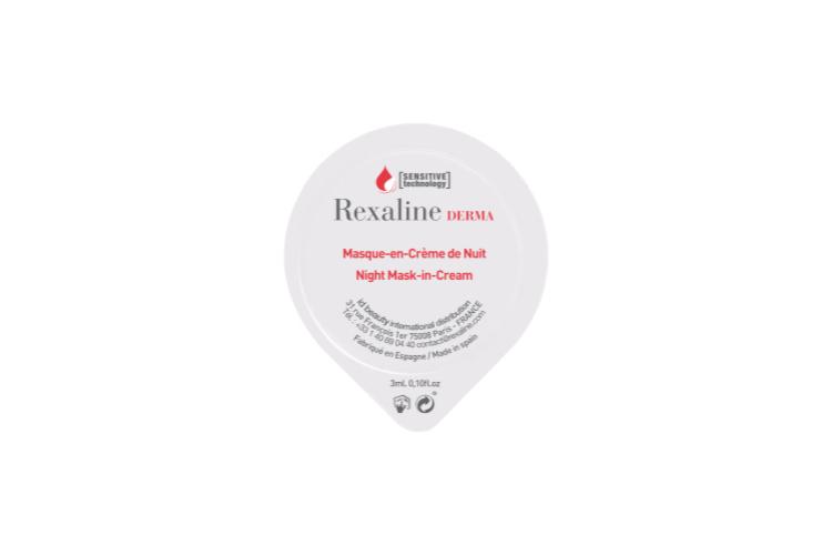 Ночная обновляющая кремовая маска с антивозрастным эффектом Night Mask-in-Creme, Rexaline Derma на основе ромашки и витамина Е глубоко увлажняет и питает кожу, восстанавливает эластичность, освежает и улучшает цвет лица