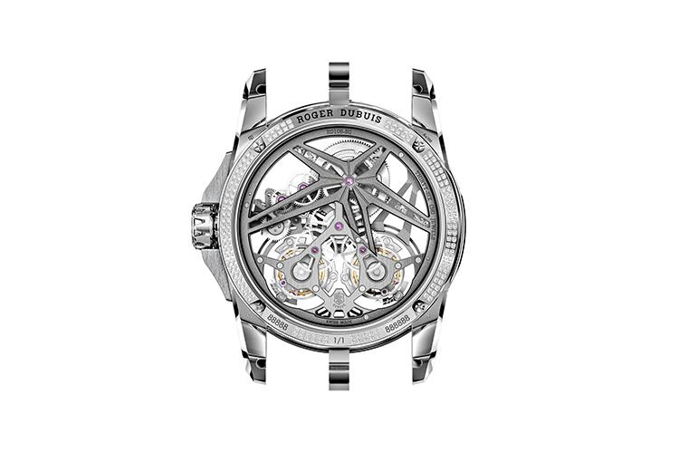 Задняя сторона часов Excalibur Superbia, Roger Dubuis