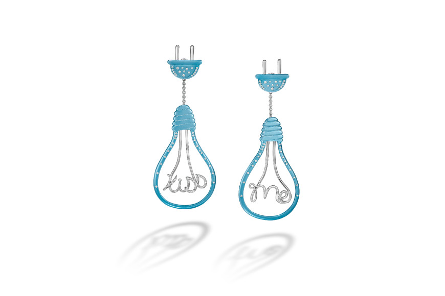 Серьги Edison Enlightenment, Suzanne Syz Art Jewels